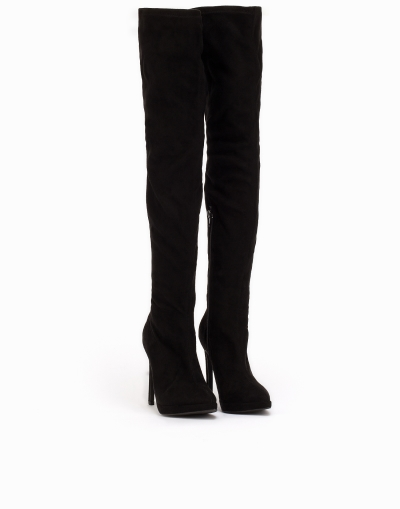 23b436b910e9 NLY Shoes Thigh High Boot Over the knee Svart
